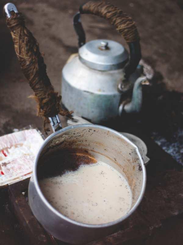 インド式のチャイ